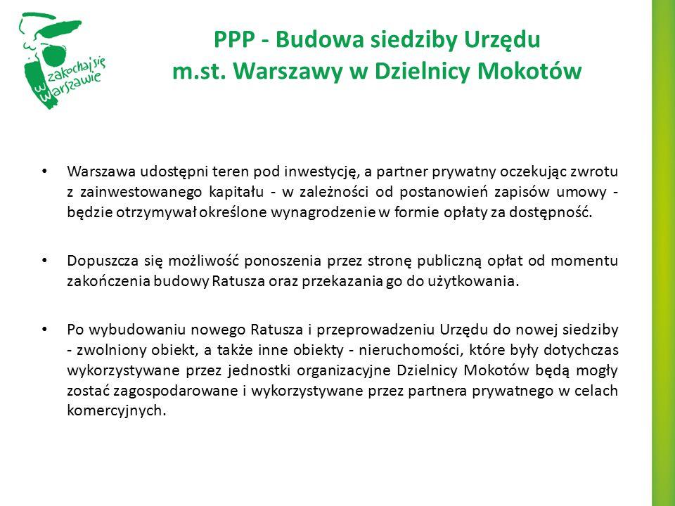 PPP - Budowa siedziby Urzędu m.st. Warszawy w Dzielnicy Mokotów
