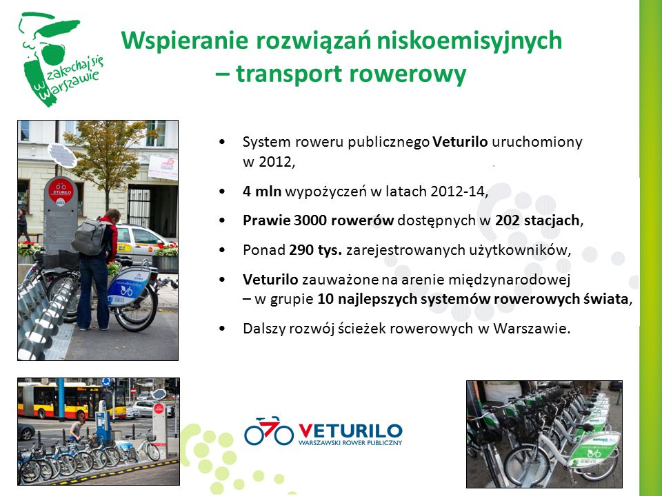 Wspieranie rozwiązań niskoemisyjnych – transport rowerowy