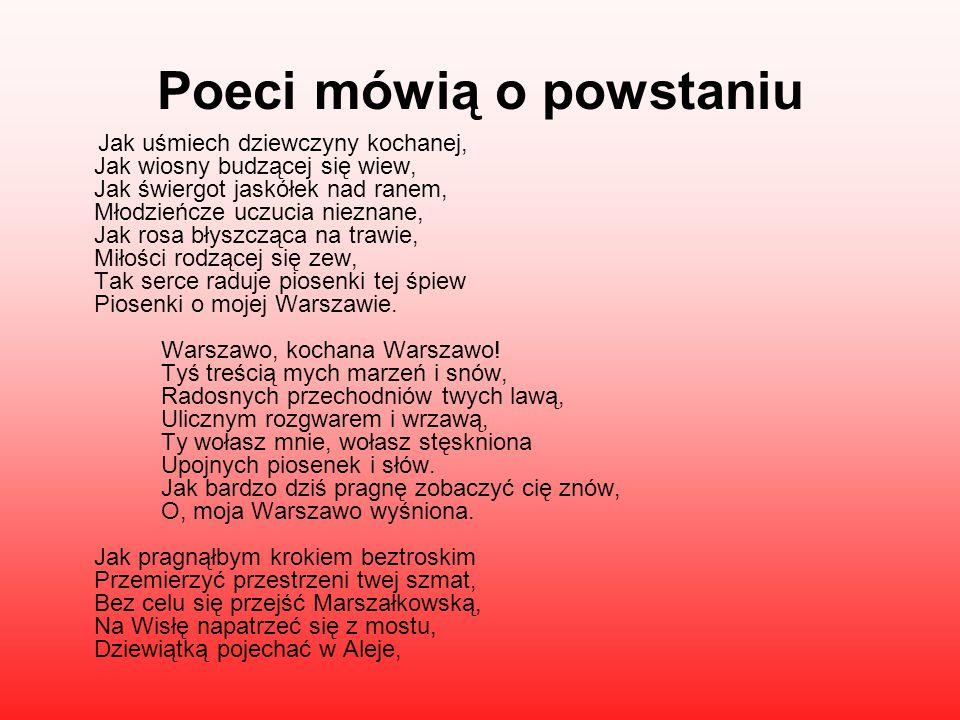 Poeci mówią o powstaniu