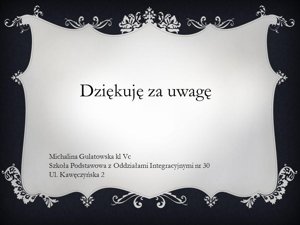 Dziękuję za uwagę Michalina Gulatowska kl Vc