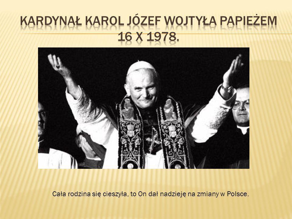 Kardynał Karol Józef Wojtyła Papieżem 16 X 1978.
