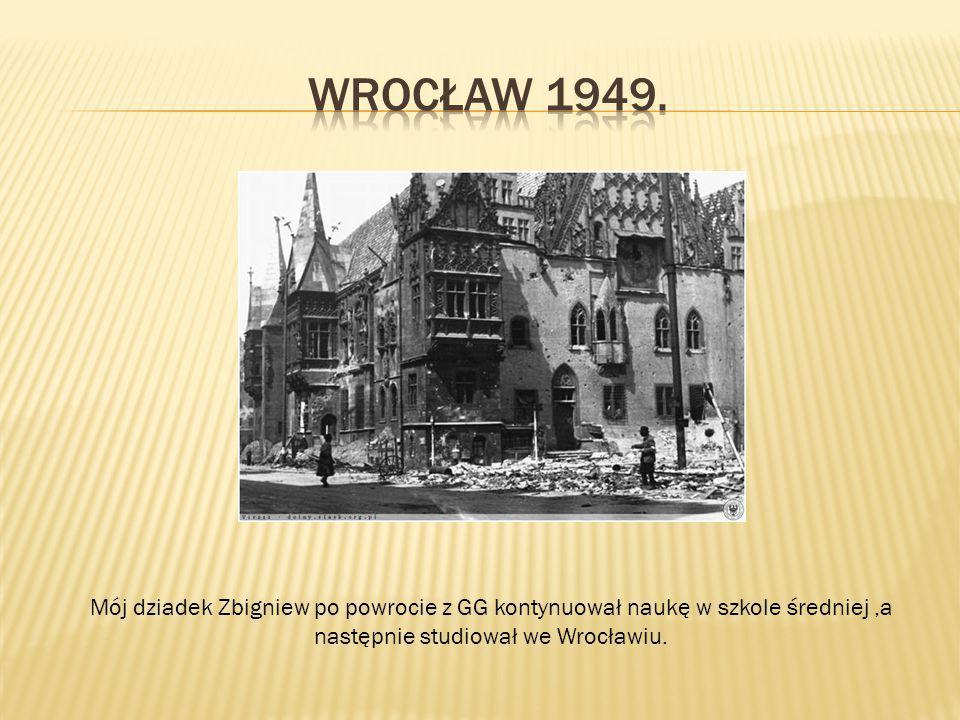 następnie studiował we Wrocławiu.