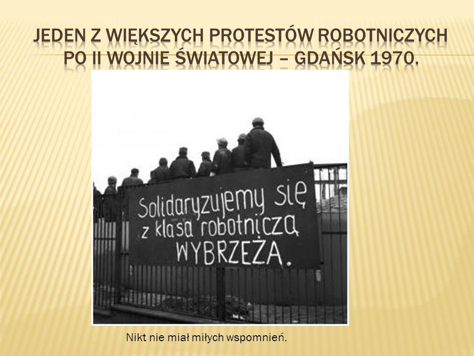 Jeden z większych protestów robotniczych po II wojnie światowej – Gdańsk 1970.