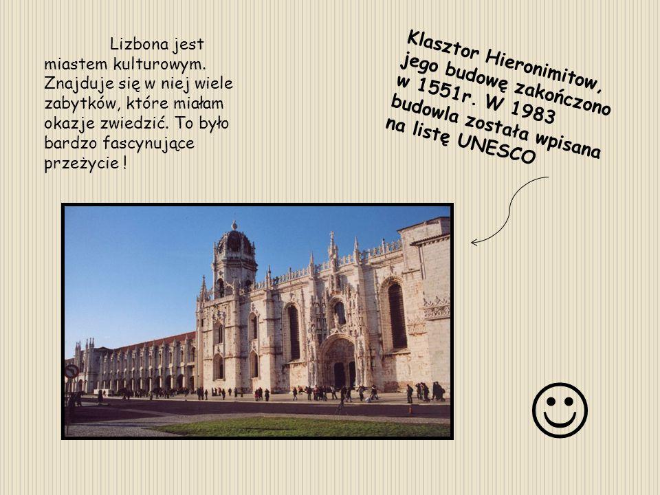 Lizbona jest miastem kulturowym