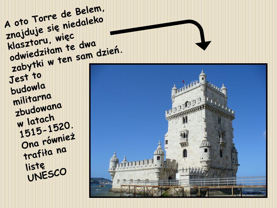 A oto Torre de Belem, znajduje się niedaleko klasztoru, więc odwiedziłam te dwa zabytki w ten sam dzień.