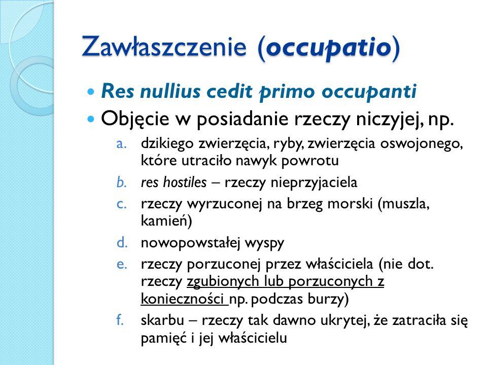 Zawłaszczenie (occupatio)