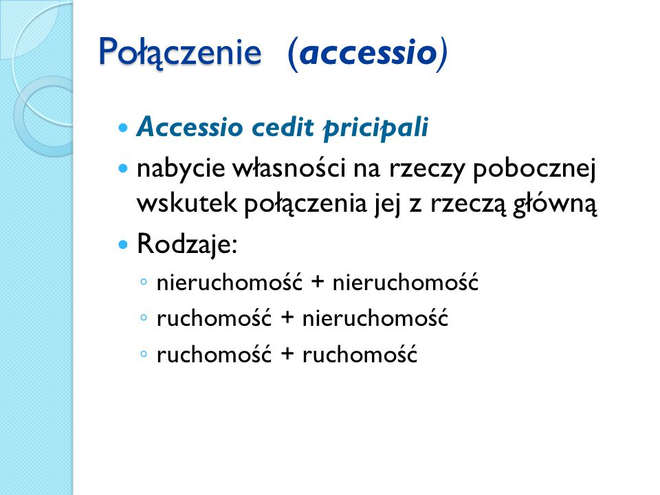 Połączenie (accessio)