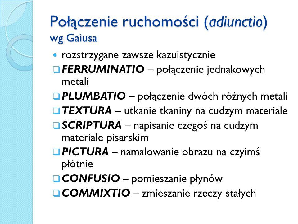 Połączenie ruchomości (adiunctio) wg Gaiusa