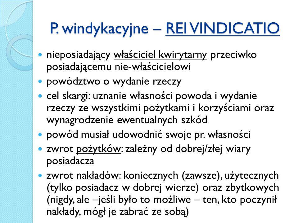 P. windykacyjne – REI VINDICATIO