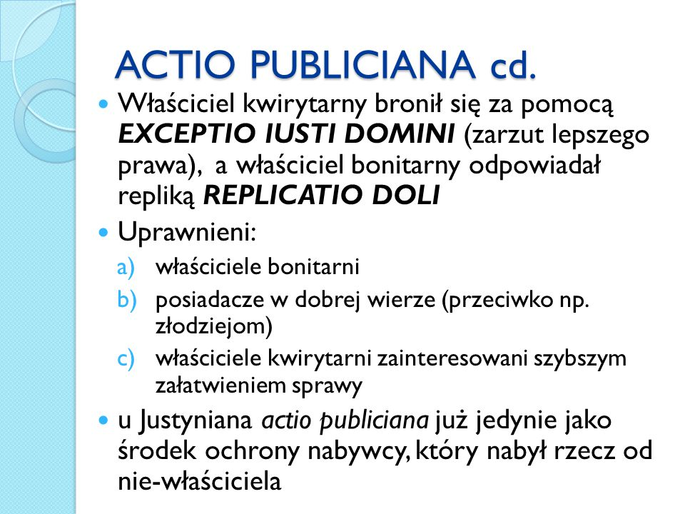 ACTIO PUBLICIANA cd.