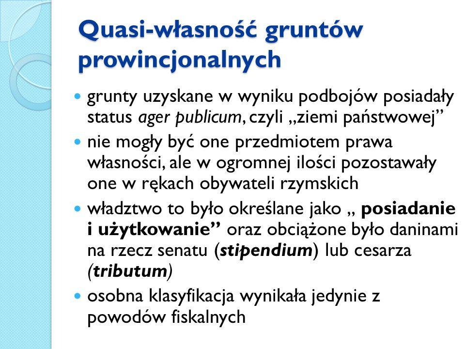 Quasi-własność gruntów prowincjonalnych