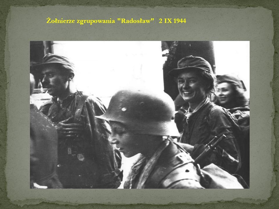 Żołnierze zgrupowania Radosław 2 IX 1944