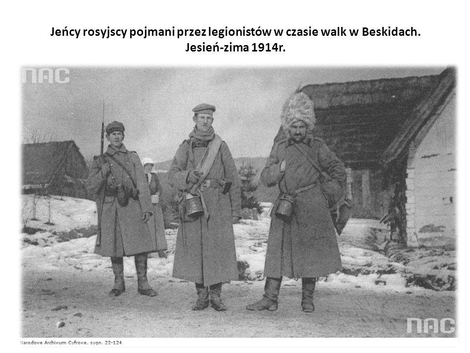 Jeńcy rosyjscy pojmani przez legionistów w czasie walk w Beskidach