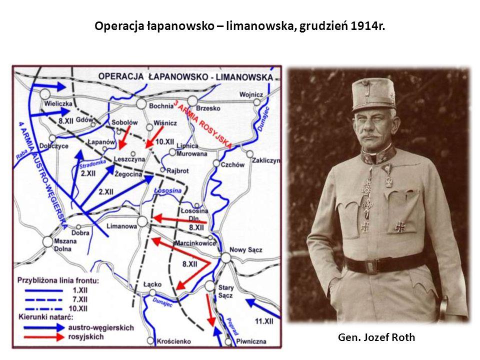Operacja łapanowsko – limanowska, grudzień 1914r.