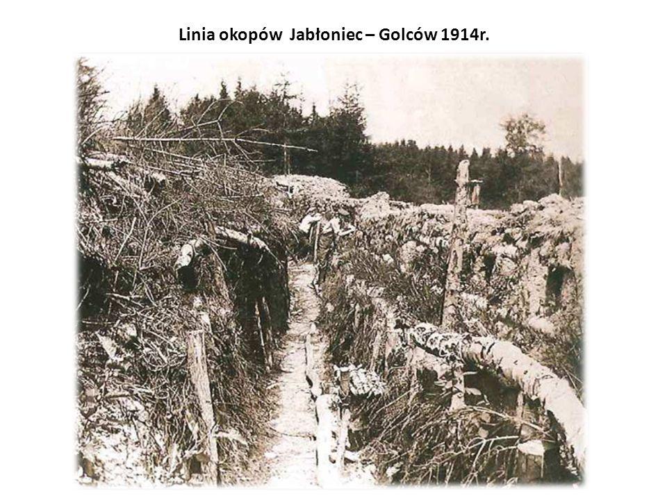 Linia okopów Jabłoniec – Golców 1914r.