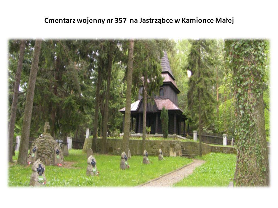 Cmentarz wojenny nr 357 na Jastrząbce w Kamionce Małej