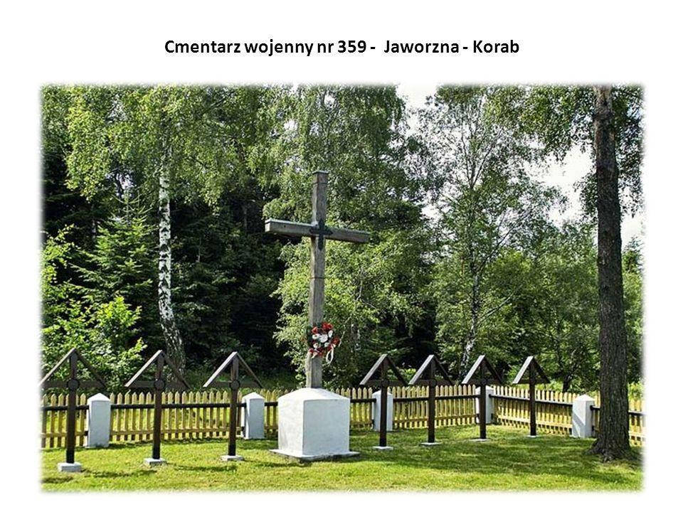 Cmentarz wojenny nr 359 - Jaworzna - Korab