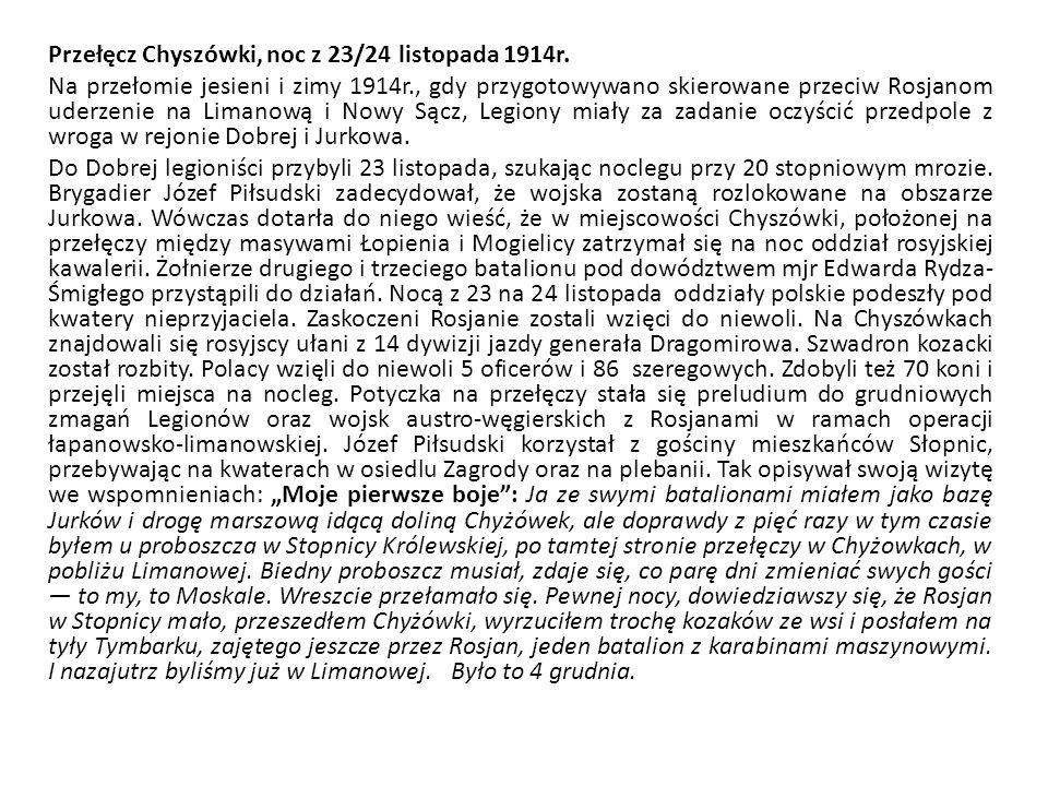 Przełęcz Chyszówki, noc z 23/24 listopada 1914r