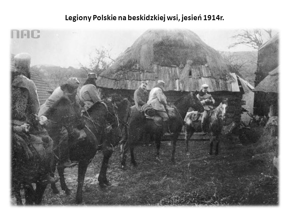 Legiony Polskie na beskidzkiej wsi, jesień 1914r.