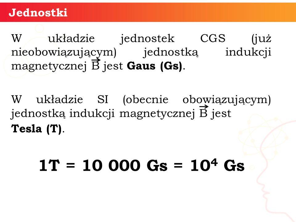 Jednostki W układzie jednostek CGS (już nieobowiązującym) jednostką indukcji magnetycznej B jest Gaus (Gs).