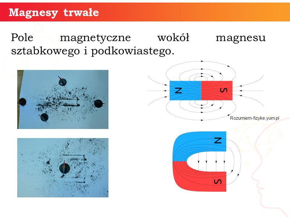 Pole magnetyczne wokół magnesu sztabkowego i podkowiastego.