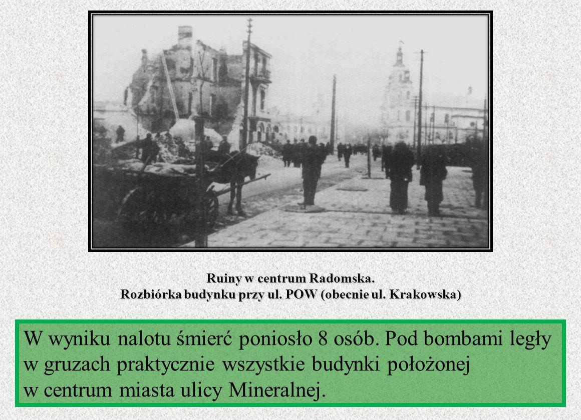 Ruiny w centrum Radomska. Rozbiórka budynku przy ul. POW (obecnie ul