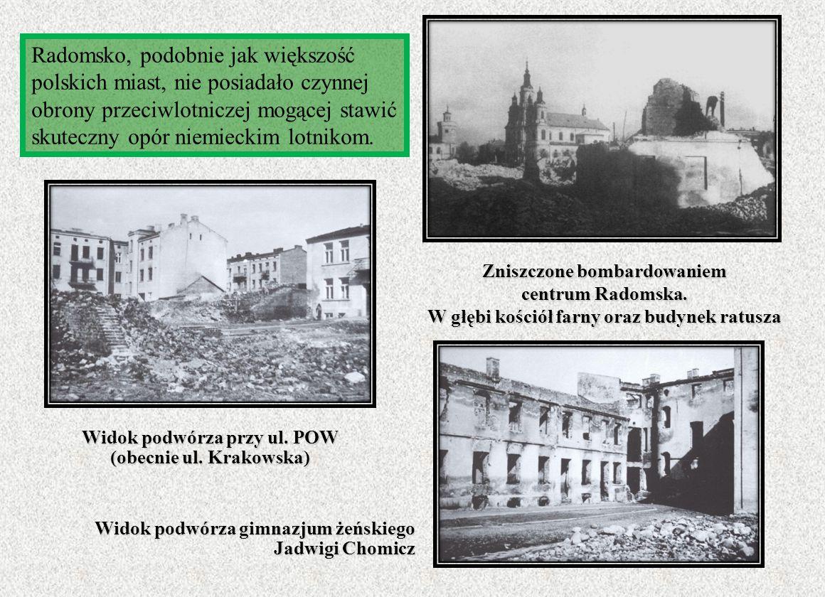 Widok podwórza przy ul. POW (obecnie ul. Krakowska)