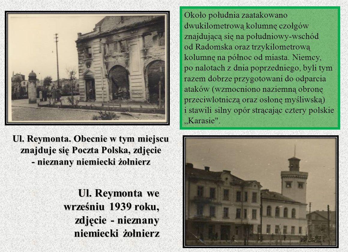Ul. Reymonta we wrześniu 1939 roku,
