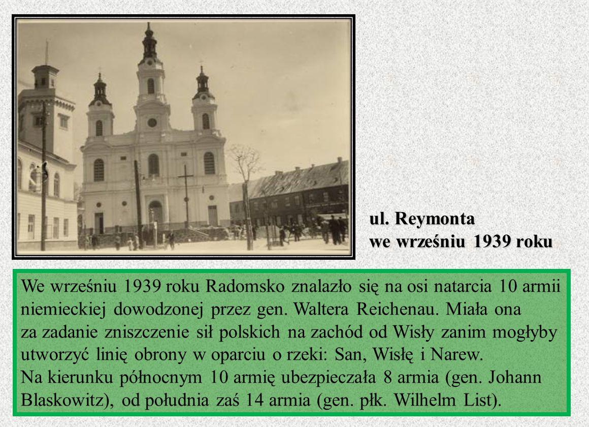 ul. Reymonta we wrześniu 1939 roku