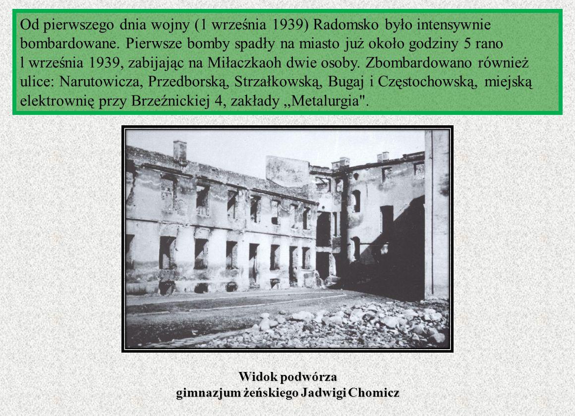 Widok podwórza gimnazjum żeńskiego Jadwigi Chomicz