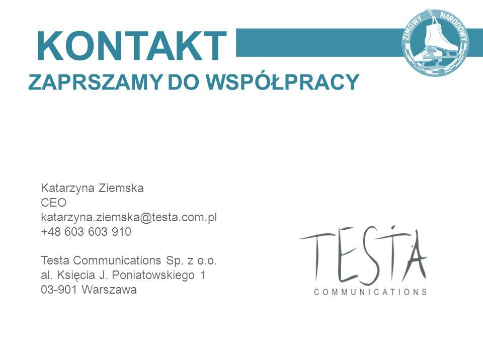 KONTAKT ZAPRSZAMY DO WSPÓŁPRACY Katarzyna Ziemska CEO