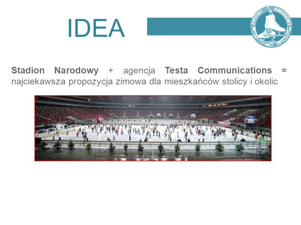 IDEA Stadion Narodowy + agencja Testa Communications = najciekawsza propozycja zimowa dla mieszkańców stolicy i okolic.
