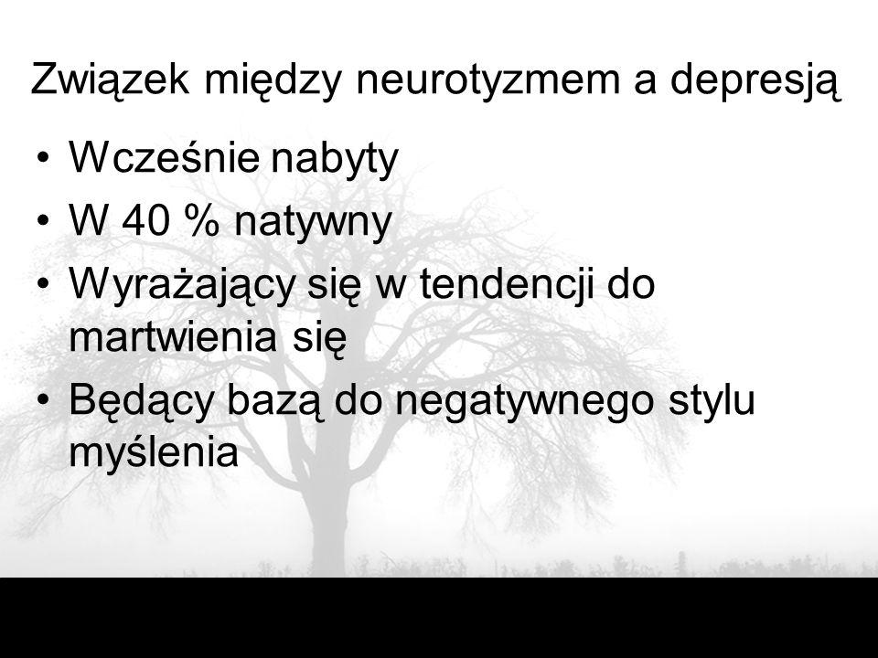 Związek między neurotyzmem a depresją