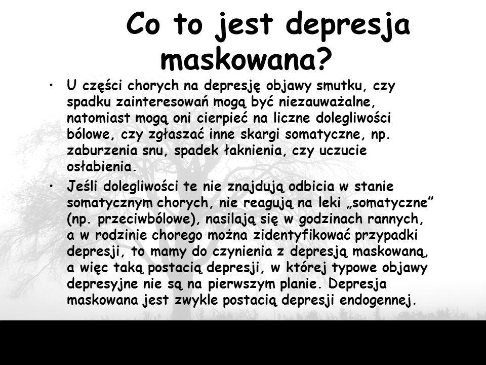 Co to jest depresja maskowana