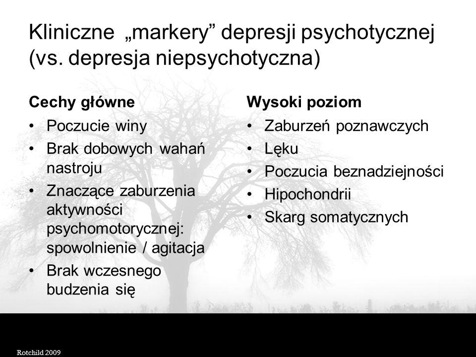 """Kliniczne """"markery depresji psychotycznej (vs"""