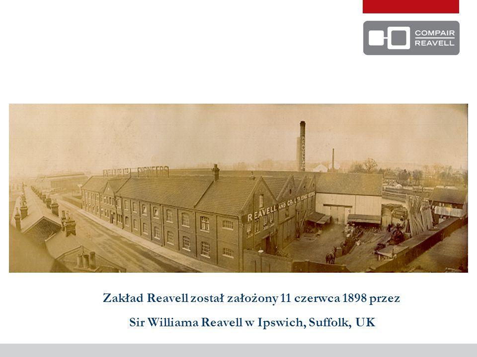 Zakład Reavell został założony 11 czerwca 1898 przez