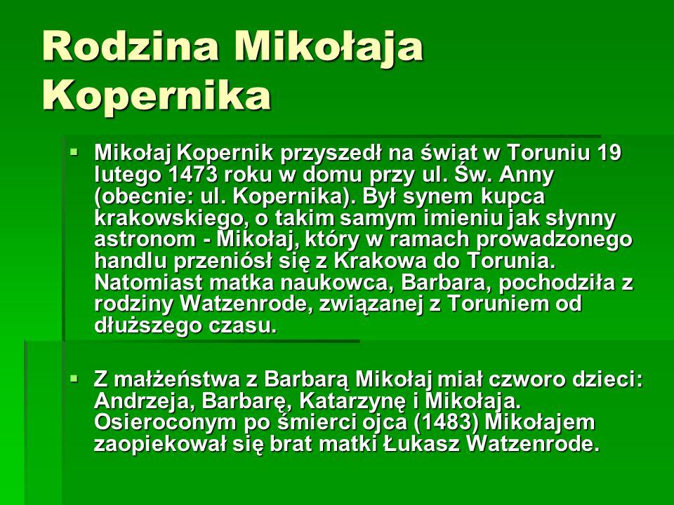 Rodzina Mikołaja Kopernika