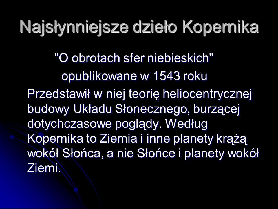Najsłynniejsze dzieło Kopernika