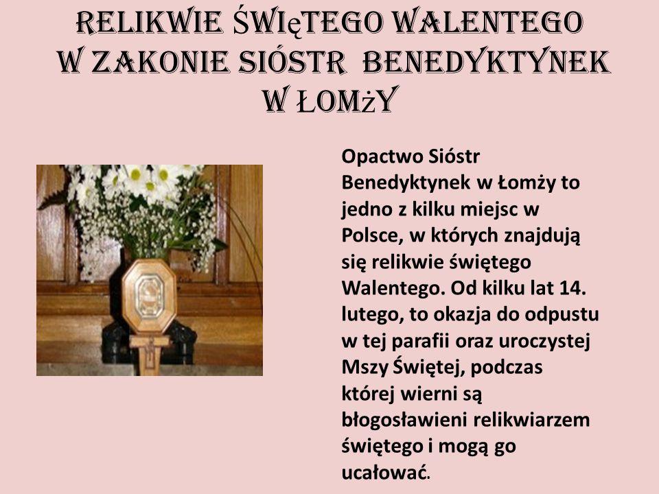 Relikwie Świętego Walentego w Zakonie Sióstr Benedyktynek w Łomży