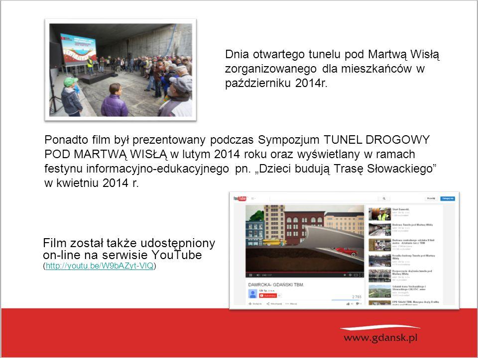 Dnia otwartego tunelu pod Martwą Wisłą zorganizowanego dla mieszkańców w październiku 2014r.