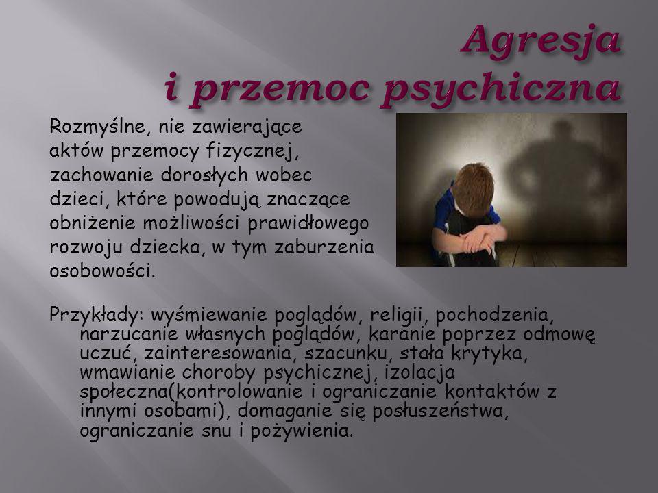 Agresja i przemoc psychiczna