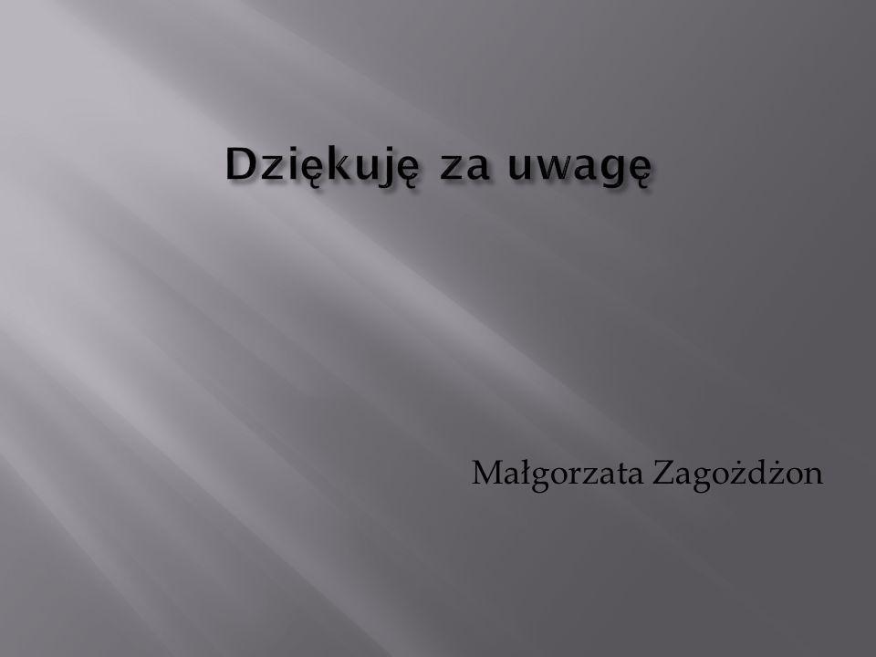 Dziękuję za uwagę Małgorzata Zagożdżon