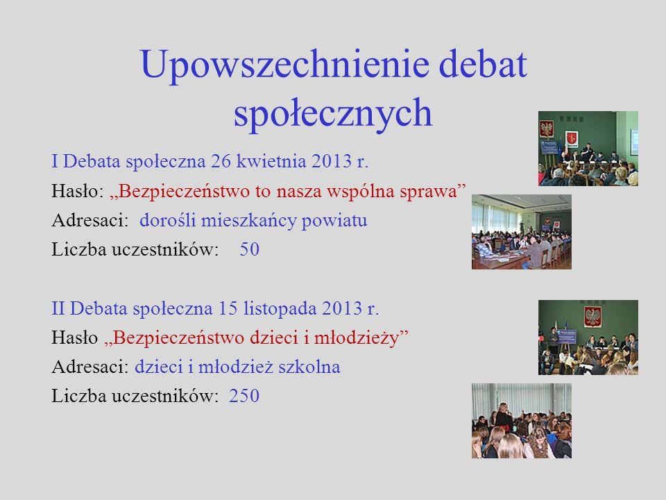 Upowszechnienie debat społecznych