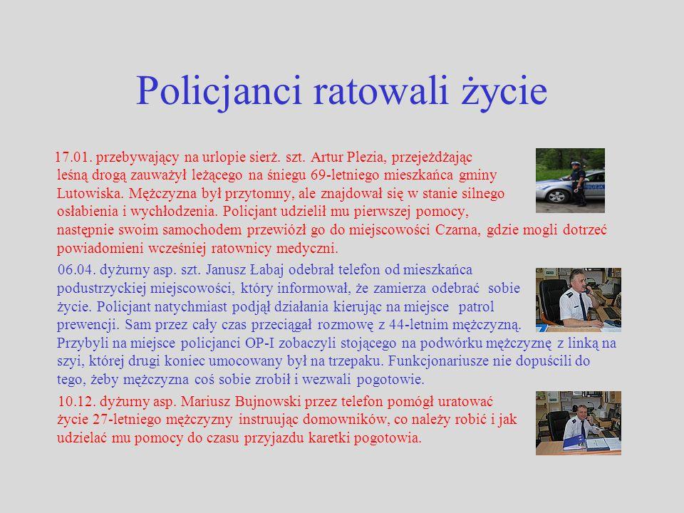 Policjanci ratowali życie