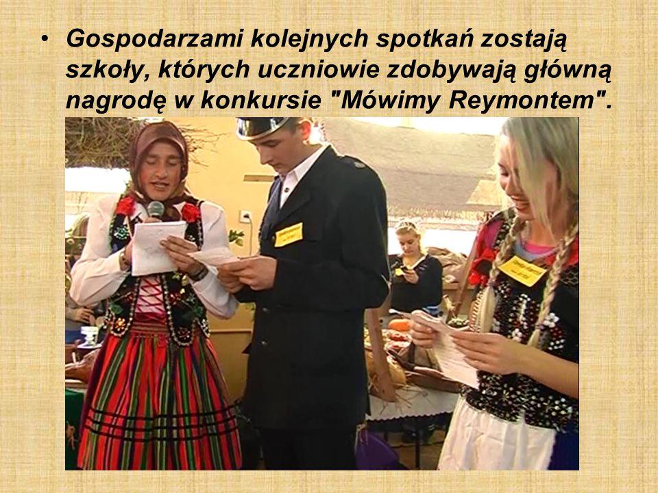Gospodarzami kolejnych spotkań zostają szkoły, których uczniowie zdobywają główną nagrodę w konkursie Mówimy Reymontem .