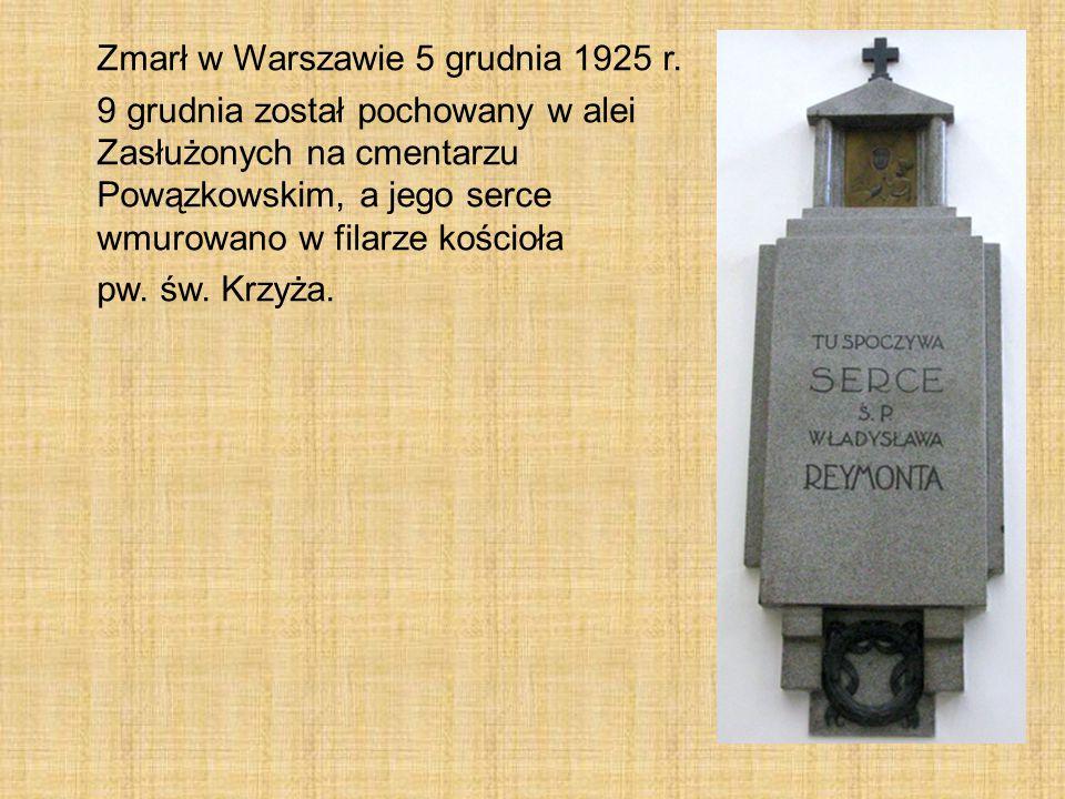 Zmarł w Warszawie 5 grudnia 1925 r.
