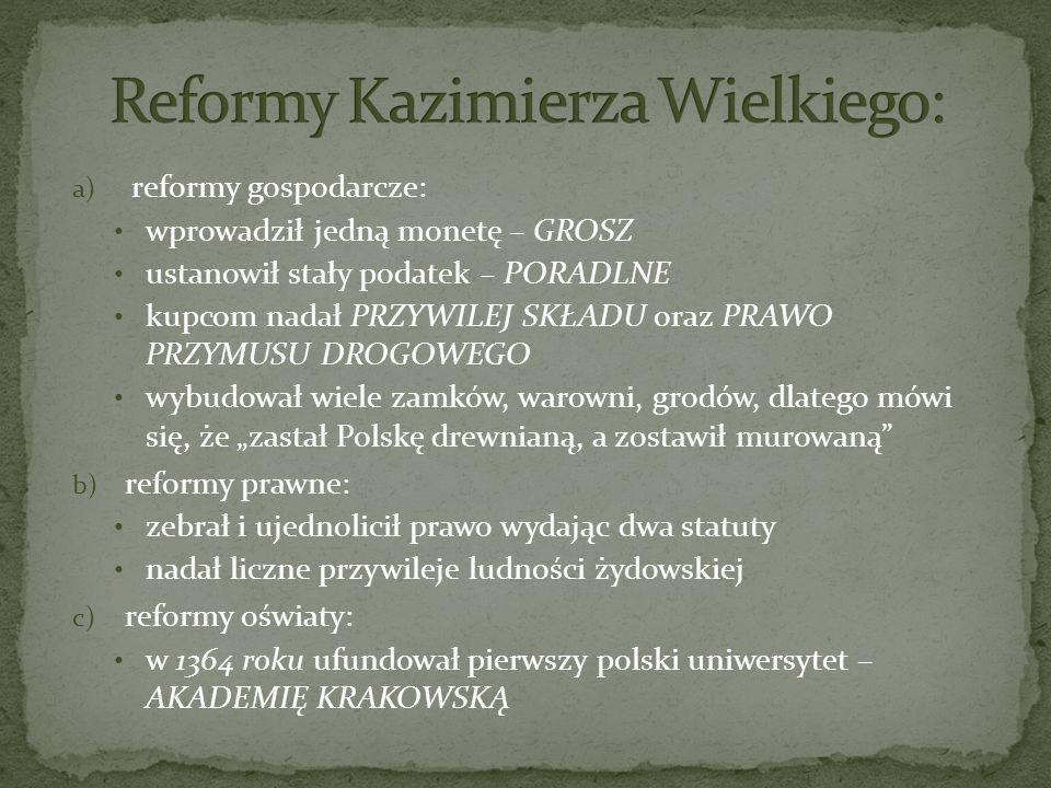 Reformy Kazimierza Wielkiego: