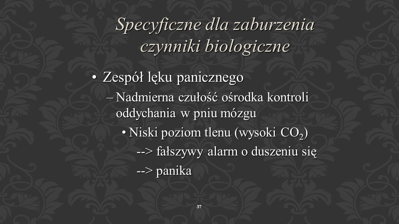 Specyficzne dla zaburzenia czynniki biologiczne