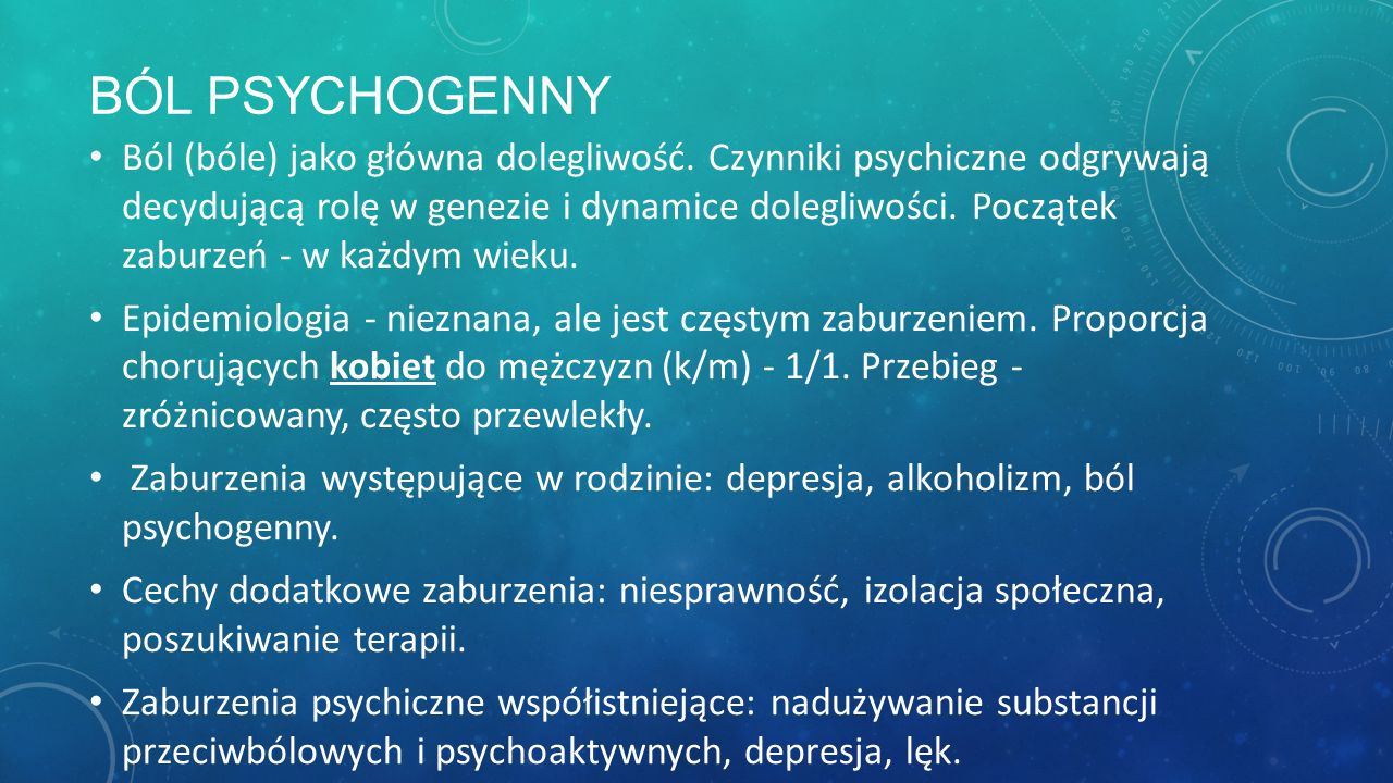 Ból psychogenny