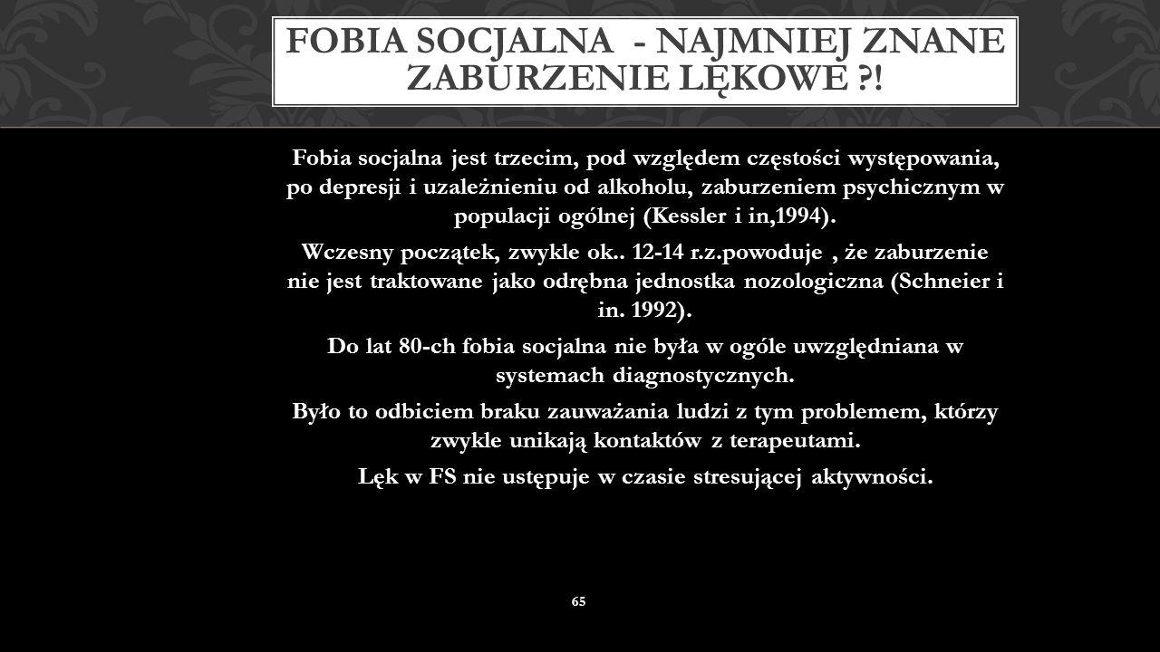 Fobia socjalna - najmniej znane zaburzenie lękowe !